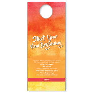 Big Invite New Beginning Door Hangers
