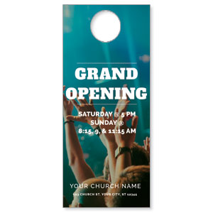 Grand Opening Crowd Door Hangers