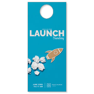Paper Rocket Launch Door Hangers