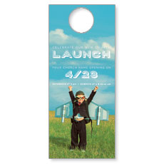 Rocket Kid Launch Door Hanger