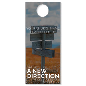 A New Direction DoorHangers