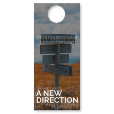 A New Direction Door Hanger