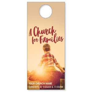 Church Families Dad and Son DoorHangers