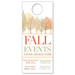 Fall Events Leaves DoorHangers