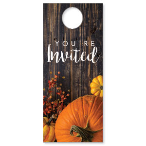 Pumpkins Youre Invited Door Hangers