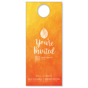Youre Invited Orange Door Hangers