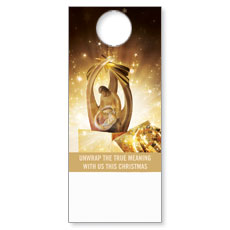UMC Christmas Gold Door Hanger