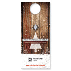 UMC Christmas Wood Door Hanger