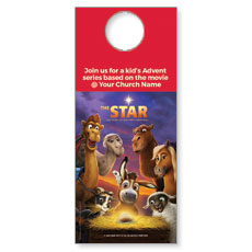 The Star Movie Advent Series for Kids Door Hanger