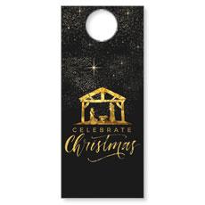 Black and Gold Nativity Door Hanger