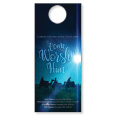 Come Worship Him Door Hanger