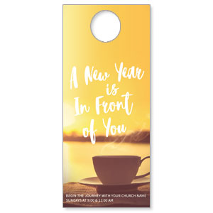 New Year Coffee Cup Door Hangers