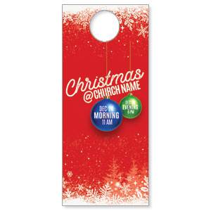 Red and Snow DoorHangers
