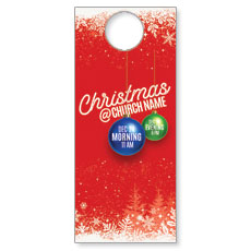Red and Snow Door Hanger