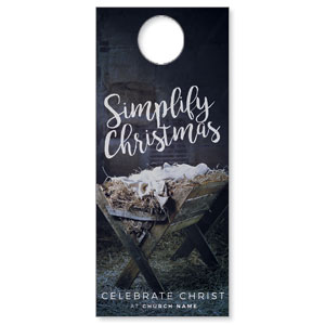 Simplify Christmas Manger Door Hangers