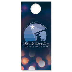 Unto Us Nativity Scene Door Hangers