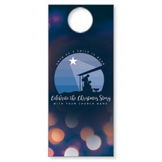 Unto Us Nativity Scene Door Hanger