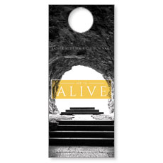 Alive Empty Tomb Door Hanger