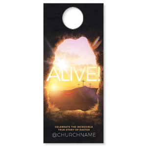 Alive Sunrise Tomb Door Hangers