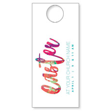 Easter Paint Splatter Door Hanger