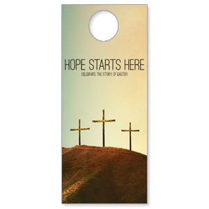 Hope Starts Here Calvary Door Hangers