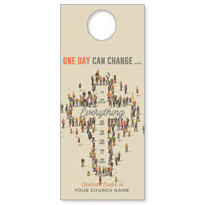 People Cross Door Hangers