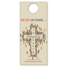 People Cross Door Hanger