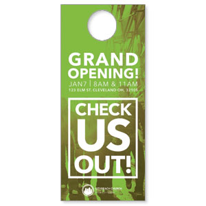 CityReach Urban Green Door Hangers