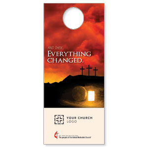 UMC Easter Everything Changed Door Hangers
