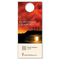 UMC Easter Everything Changed Door Hanger