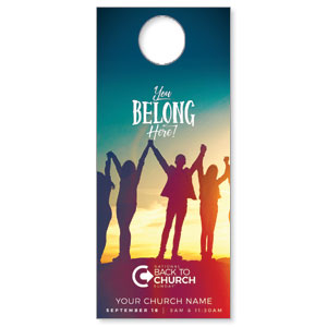 BTCS You Belong Here DoorHangers