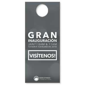 CityReach Blurred Gray Spanish Door Hangers