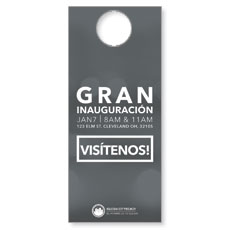 CityReach Blurred Gray Spanish Door Hanger