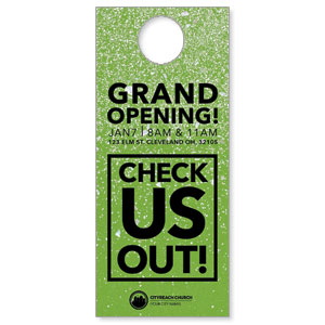 CityReach Green Pebble Fade Door Hangers
