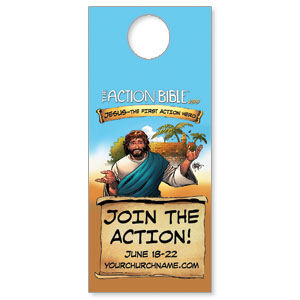 The Action Bible VBS Door Hangers