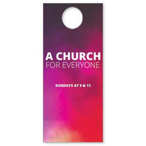 Abstract Purples Everyone Door Hangers
