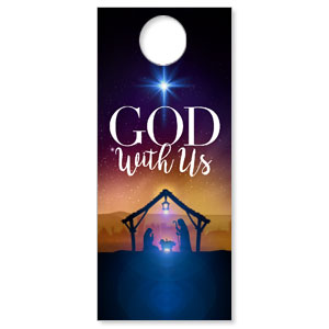 God With Us Advent DoorHangers