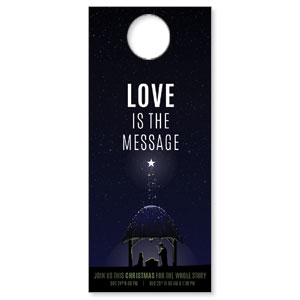 Love Is the Message DoorHangers