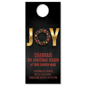 Gold Joy Wreath DoorHangers