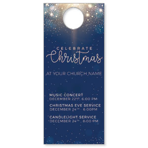 Blue Sparkles Christmas Door Hangers