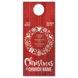 Christmas Icons Wreath DoorHangers