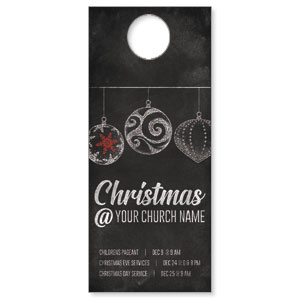 White Chalk Christmas Door Hangers