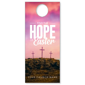 Hope of Easter Pink Door Hangers