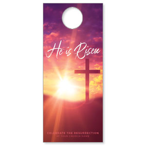 Pink Sunrise Risen Door Hangers