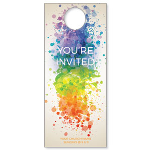 Color Spectrum Splatter DoorHangers