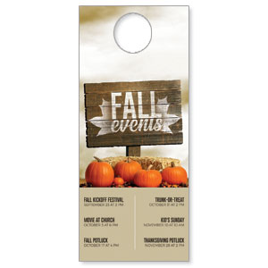 Fall Events Pumpkins DoorHangers