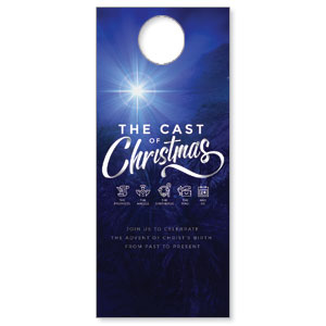 The Cast of Christmas DoorHangers