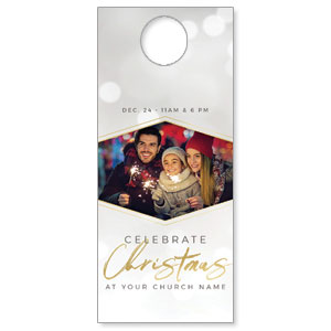 Family Celebrate Christmas Hispanic DoorHangers