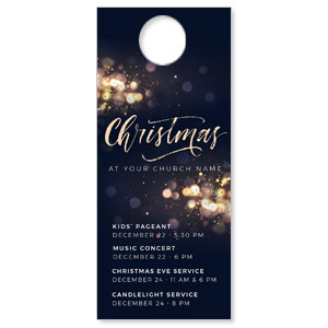 Christmas Sparkle Events DoorHangers