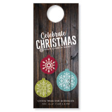 Dark Wood Christmas Ornaments